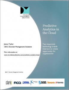 Predictive Analytics in the Cloud Position Paper